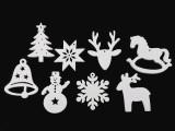 Fa karácsonyi dísz - 6 db/csomag