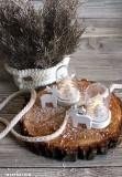 Fa karácsonyi dísz - 6 db/csomag Fa,üveg dísz-, kellék