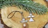 Fém köztes gyöngy angyal szárny - 10 db/csomag Gyöngy-,gyöngyfűző