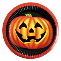 Halloween tökös tányér - 6 db/csomag Halloween