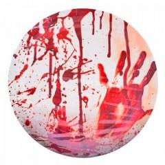 Halloween véres tányér - 8 db/csomag Halloween