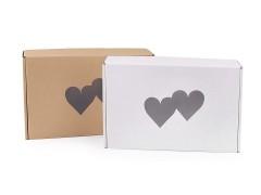 Ajándék szív papírdoboz Ajándék csomagolás