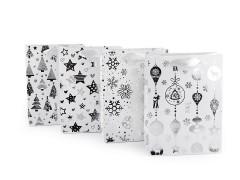 Ajándék táska karácsonyi kicsi méretű - Fehér Ajándék csomagolás