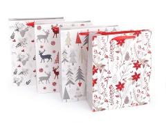 Ajándék táska karácsonyi szett - 4 db Ajándék csomagolás