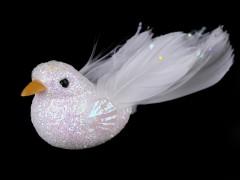 Dekorációs madár csillámokkal  Madárka, állatka