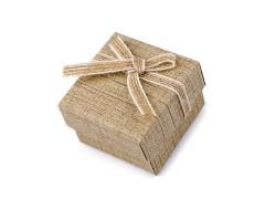 Ékszeres doboz 5x5 cm - Natur Ékszerdoboz, tárolás