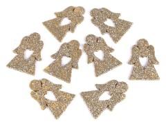 Dekorációs angyal glitterekkel - 8 db/csomag Koszorú
