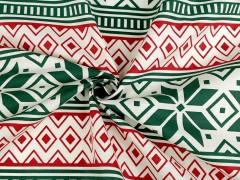 Karácsonyi pamut anyag  Dekorációs szövet