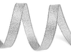 Brokát szalag lurex 10 m - Ezüst Szalag, gumi