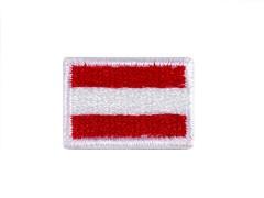 Felvasalható kis zászló Vasalható, varrható folt