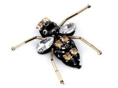 Méh dísz kövekkel Medál-, bross