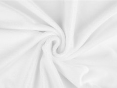 Finom plüss anyag - Fehér Plüss, bársony, frottir