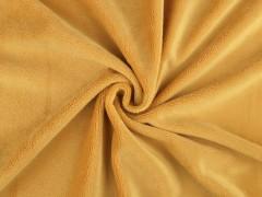 Finom plüss anyag - Mustár Plüss, bársony, frottir
