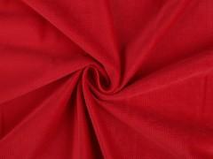 Bársony anyag strukturált - Piros Plüss, bársony, frottir
