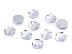 Varrható csiszolt kövek - 36 db/csomag Varrható, ragasztható ruhadísz