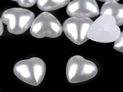 Gyöngy szív - 25 db/csomag Varrható, ragasztható dísz