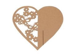 Névjegykártya szív - 10 db/csomag Papir,celofán,fólia
