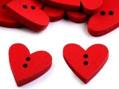 Dekorációs fagomb szív - 10 db