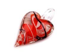 Üvegmedál szív Medál-, bross