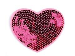 Rávasalható foltok flitteres szív Vasalható, varrható folt