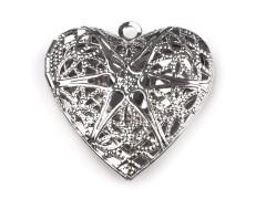 Medailon szív szelence Medál-, bross