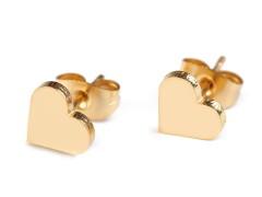 Fülbevaló rozsdamentes acélból - Szív Fülbevaló-, kellék
