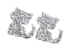 Felvasalható cica kövekkel Vasalható, varrható folt