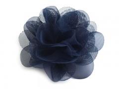 Szifon virág 80 mm - Sötétkék Medál-, bross