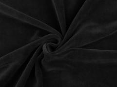 Frottir plüss egyszínű - Fekete Plüss, bársony, frottir