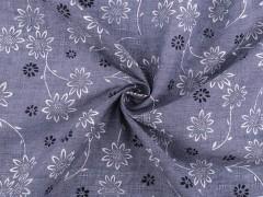 Anyag virág mintával Poliészter, kevert anyag