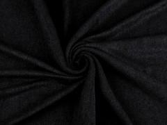 Fésült kötött anyag - Fekete Poliészter, kevert anyag