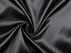 Elasztikus szatén - Fekete Tüll, Szatén,Taft anyag