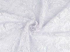 Esküvői csipke kétoldalas bordűr - Fehér Csipke,madeira anyag