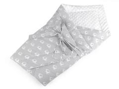 Minky puha pólya - Fehér Gyerek divat