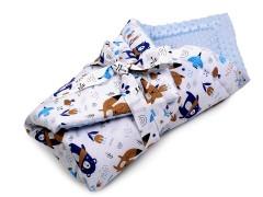 Minky puha pólya - Kék Gyerek divat