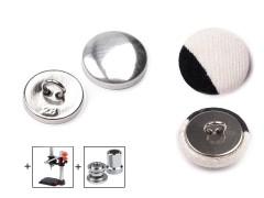 Behúzható fém gomb 17,8 mm - 100 db/csomag Gomb, kapocs