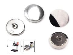 Behúzható fém gomb - 100 db/csomag 32 Gomb, kapocs