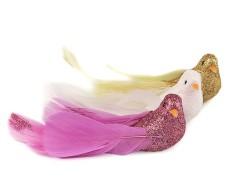 Dekorációs madár glitterekkel - 3 db/csomag Madárka, állatka
