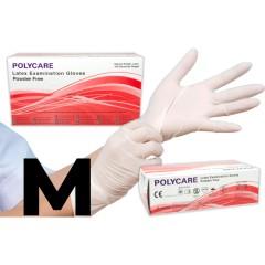 POLYCARE púdermentes Latex kesztyű - 100 db Egészségügyi kellék