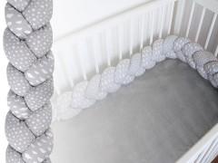 Mantinel kötött copf ágyba Lakástextil