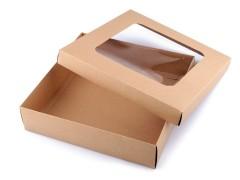 Ajándékdoboz átlátszó tetővel - 4 db/csomag Doboz,zsákocska