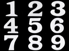 3D számok polisztirol  Hungarocell,műanyag kellék