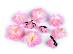 Dekor bazsarózsa - 9 db Virág, toll, növény