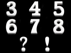 3D dekoráció számok Dekor figura, dísz