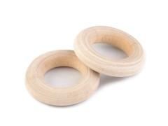 Dekor fa karika - 10 db/csomag Fa,üveg dísz-, kellék