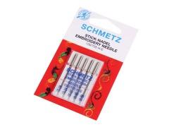 Schmetz Varrógéptű hímzéshez - 5 db/csomag