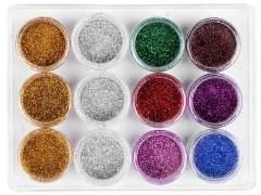 Dekorációs csillámpor - 9 szín Festék, ecset