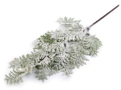Mű faág tuja behavazott - 50 cm Virág, toll, növény