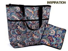 Összehajtható bevásárlótáska cipzárral erős - 6 szín Táska,pénztárca kellék
