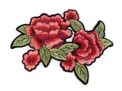 Nagy felvasalható hímzett rózsa  Vasalható, varrható folt